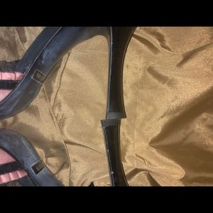 Guess Shoes - Guess pink satin ankle strap shoes